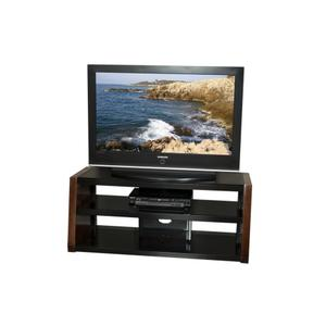 """Tech-craft - 48"""" Wide Stand, Solid Wood Walnut Finish Accents, Accommodates Most 52"""" and Smaller Flat Panels - No Tools Required"""
