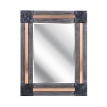 Kristjana Rectangular Wooden Mirror with Metal Accents