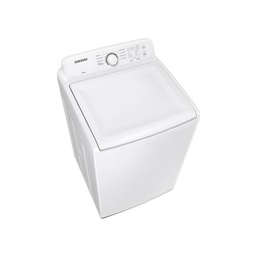 4.1 cu. ft. Capacity Top Load Washer with Soft-Close Lid and 8 Washing Cycles in White