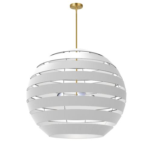 Product Image - 4lt Chandelier Agb, Wh Shade