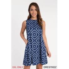 See Details - Bandanna Print Sleeveless Dress - XXL (2 pc. ppk.)