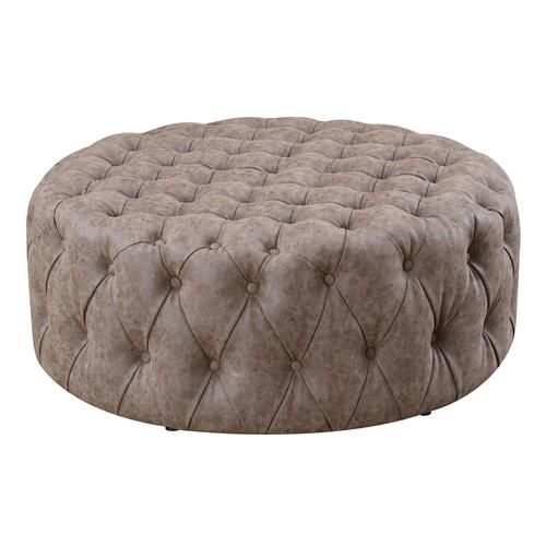 "Emerald Home Bridget U3839-22-05 39""rnd Ct Ottoman - Brown"