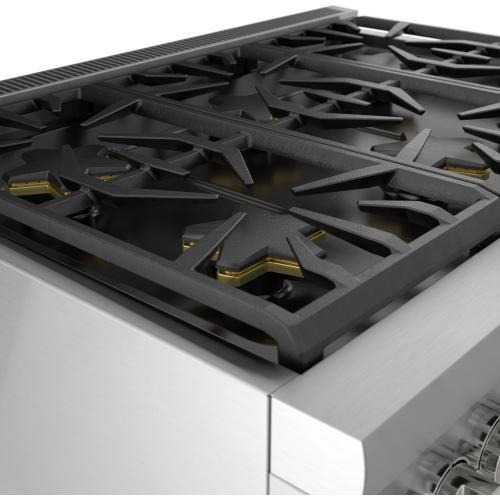 Thermador - Dual Fuel Professional Range 36'' Pro Harmony® Standard Depth Stainless Steel PRD366WHU