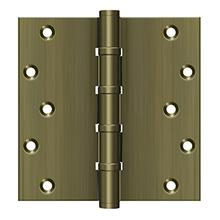 "6"" x 6"" Square Hinges, Ball Bearings - Antique Brass"