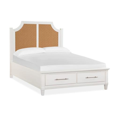 Magnussen Home - Complete Queen Arched Woven Storage Bed