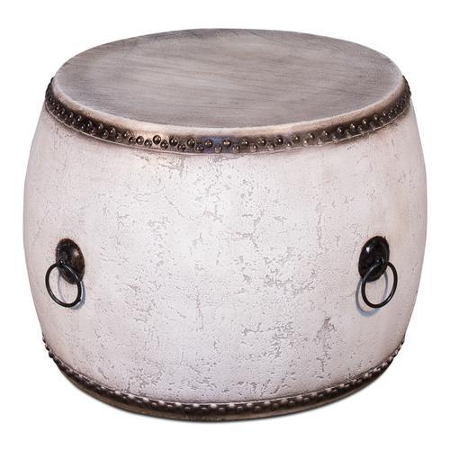 White Drum Table 28x20