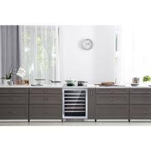 See Details - Hanover The Vault 24-In. Single Zone Wine Cooler with 54-Bottle Capacity and Reversible Door Hinge, HWC60301-5SS