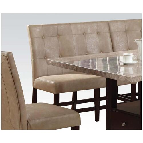 Cream Pu Din. Loveseat Chair