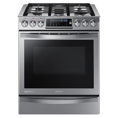 Open Box Slide-in Gas Chef Collection Range with True Convection