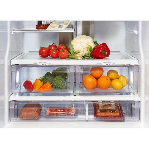 GE Profile 20.8 Cu. Ft. Energy Star French Door Refrigerator with Factory Installed Icemaker White - PNE21NGLKWW