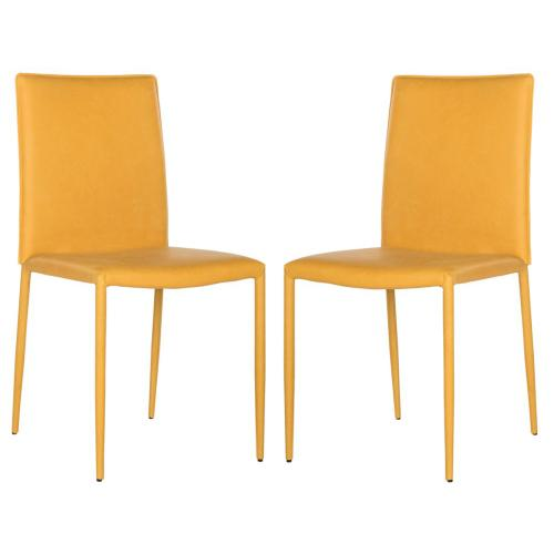 Karna 19''h Dining Chair - Antique Yellow
