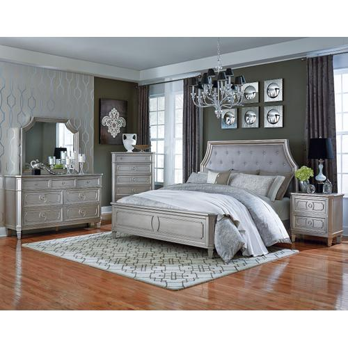 Windsor Silver Dresser with Mirror, Silver