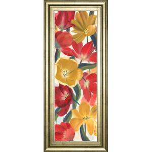"""Tulip Array Panel I"" By Sandra Iafrate Framed Print Wall Art"