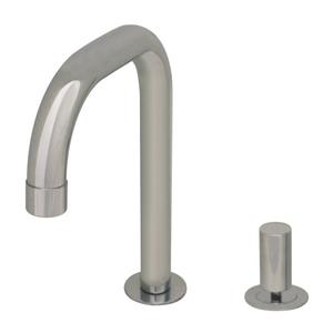 Aeri dual-hole faucet with 360-degree stick handle and swivel fountain spout. Product Image