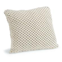 Marcel White Macramé Pillow