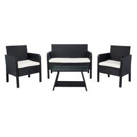 Aboka 4pc Living Set - Black / Beige