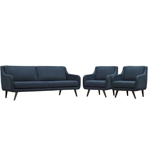 Verve Living Room Set Set of 3 in Azure