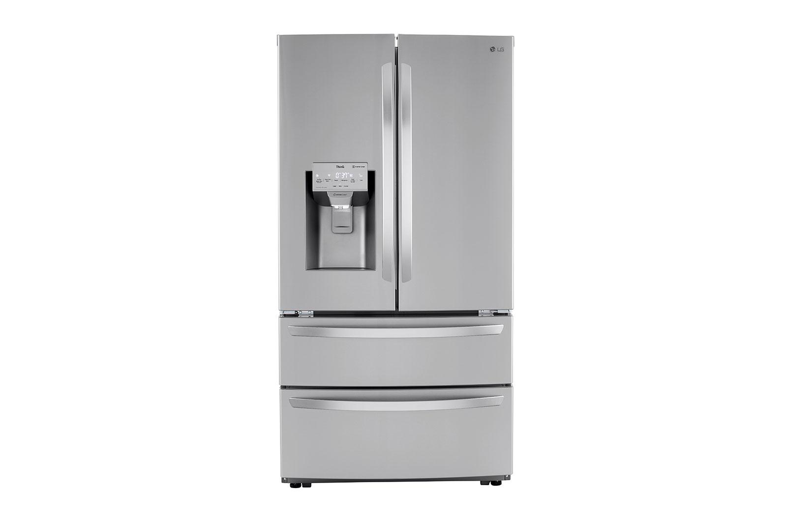 LG Appliances22 Cu Ft. Smart Counter Depth Double Freezer Refrigerator With Craft Ice™