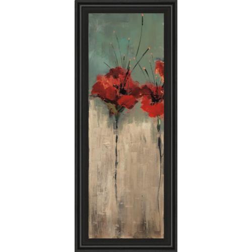 """Classy Art - """"Scarlett Garden Il"""" By Luis Solis Framed Print Wall Art"""