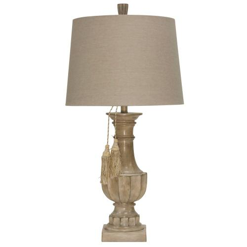 Bokava  Traditional Baluster Design Table Lamp with Detailed Tassels  150 Watts  3-Way