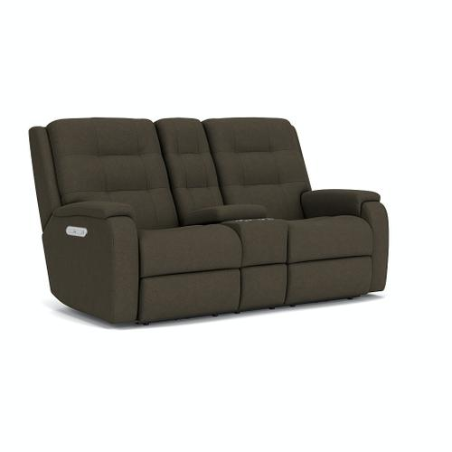 Flexsteel - Arlo Power Reclining Loveseat with Console and Power Headrests