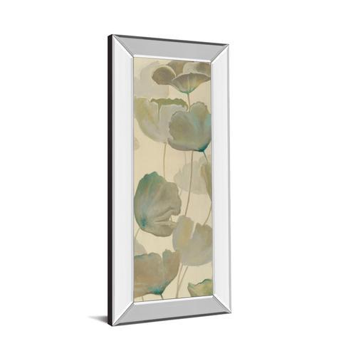 """Poppy Impression Panel 2 "" By George Generali Mirror Framed Print Wall Art"