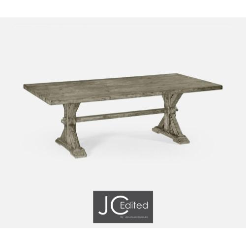 Dining table in rustic grey