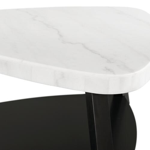 Trinity White Marble Top Coffee Table