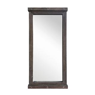 """See Details - 7100 GRAY 31.5""""x 63"""" Wooden Frame Beveled Wall Mirror"""