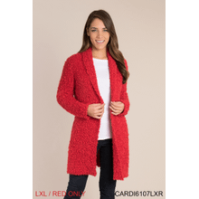 Cozy Up Cardigan - L/XL Red (2 pc. ppk.)
