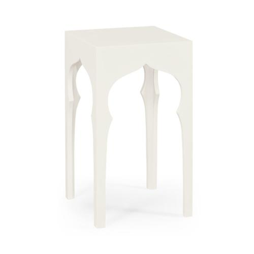 Square Lamp Table (Snow White)