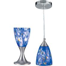 2-in-1 Table & Pendant Lamp, Ps W/blue Glass, 40w/b Type