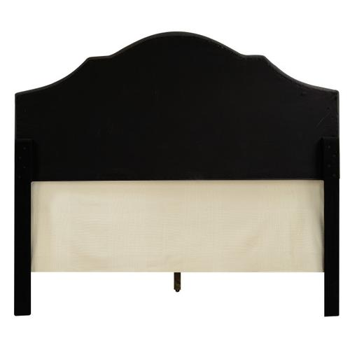 King All-In-One Scalloped Tufted Upholstered Bed in Dupree Steel