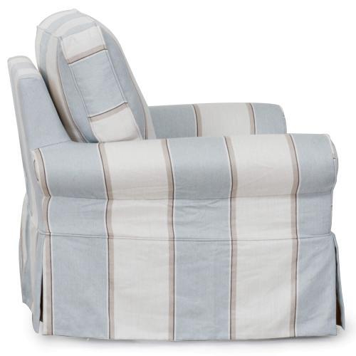 Sunset Trading - Horizon Slipcovered Swivel Rocking Chair - Color 479541
