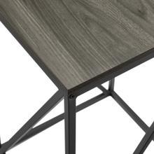 View Product - Modern Geometric Side Table - Slate Grey
