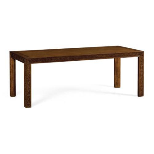 "80"" Antique Mahogany Parson Dining Table"