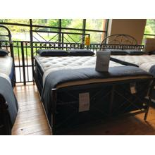 COMPLETE QUEEN METAL BED (DOES NOT INCLUDE MATTRESS)