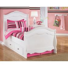 B188 Full Sleigh Bed Under Bed Storage