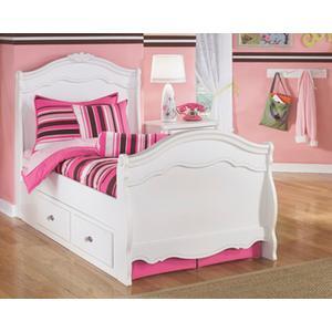 B188 Twin Sleigh Bed Under Bed Storage