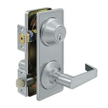 Intercon. Lock GR2, Passage w/ Claredon Lever - Brushed Chrome