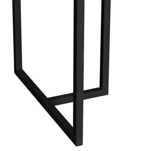 Metal Frame Marble Top Desk in Black