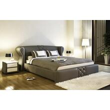 Modrest B1312 Modern Grey & White Bonded Leather Bed