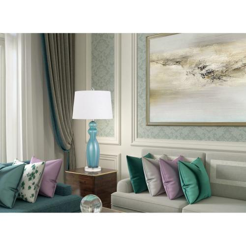 150W 3 Way Bristol Glass Table Lamp (Sold And Priced in Pairs)