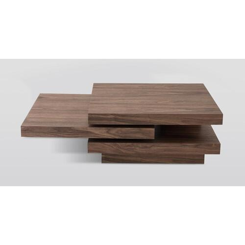 Modrest Lani Modern Walnut Coffee Table