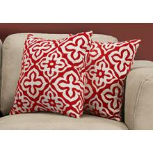 "PILLOW - 18""X 18"" / RED MOTIF DESIGN / 2PCS"