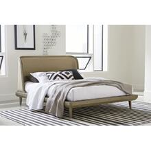 Spindle Queen Upholstered Bed