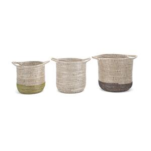 Tona Baskets with Handles - Set of 3