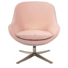 See Details - Hanover Brighton Swivel Barrel Chair in Pink with Chrome Base, HUP301-PINK