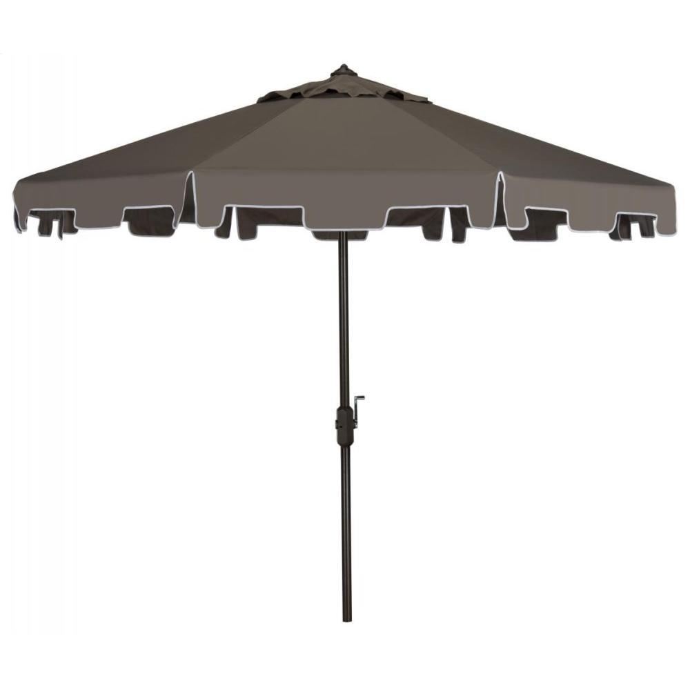 Zimmerman 9 Ft Crank Market Umbrella With Flap - Grey