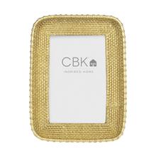 Gold Basket Weave 4x6 Frame